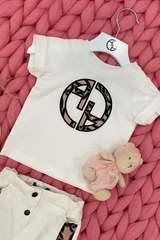 Alessa Luxury Logo mini T-Shirt - Екрю - Изображение 3